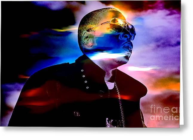 Gold Art Greeting Cards - Jay Z Collection Greeting Card by Marvin Blaine