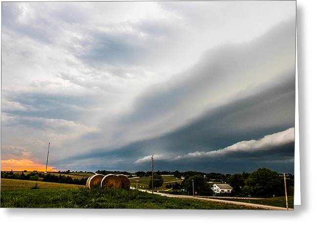 Weather Report Greeting Cards - Late August Nebraska Supercell Greeting Card by Dale Kaminski