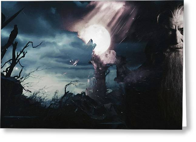 Lord Of The Rings Greeting Cards - Lord Of The Rings Art Print Greeting Card by Victor Gladkiy
