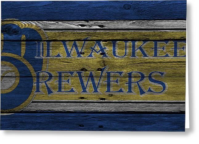 Milwaukee Brewers Greeting Cards - Milwaukee Brewers Greeting Card by Joe Hamilton