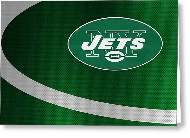 Offense Greeting Cards - New York Jets Greeting Card by Joe Hamilton