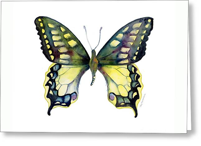 20 Old World Swallowtail Butterfly Greeting Card by Amy Kirkpatrick