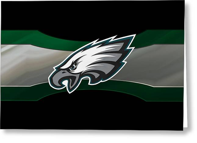 Goals Greeting Cards - Philadelphia Eagles Greeting Card by Joe Hamilton