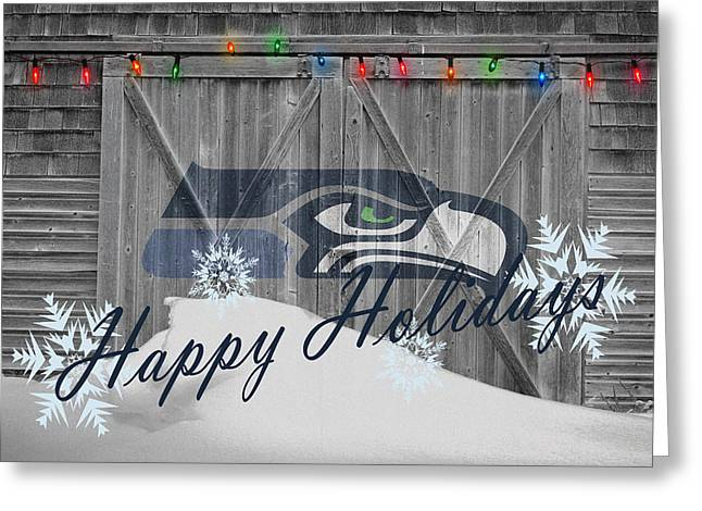 Goals Greeting Cards - Seattle Seahawks Greeting Card by Joe Hamilton