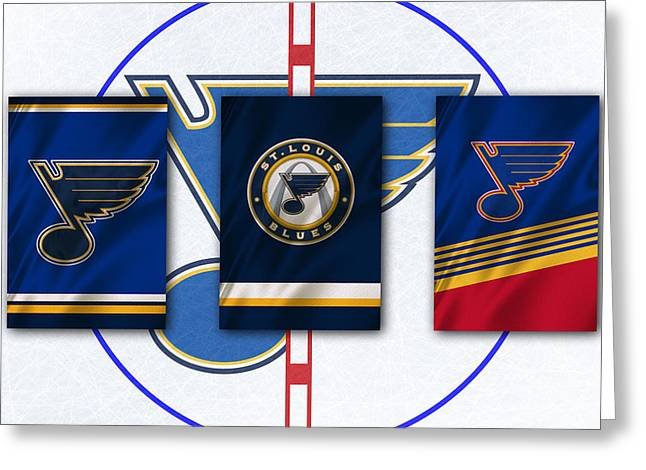 Skate Greeting Cards - St Louis Blues Greeting Card by Joe Hamilton
