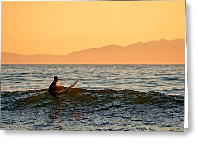 Rincon Greeting Cards - Surfing Greeting Card by Elijah Weber