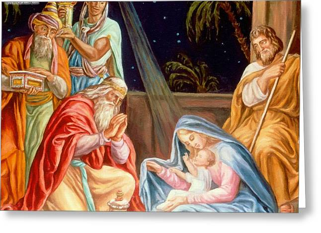 Calvary Greeting Cards - The Virgin And Child Greeting Card by Victor Gladkiy