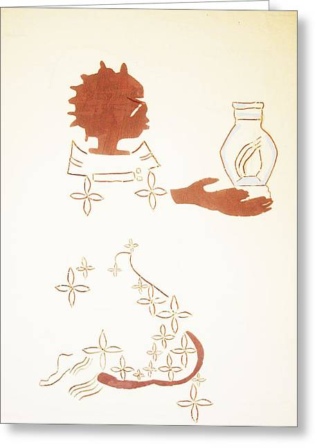 End Times Ceramics Greeting Cards - The Wise Virgin Greeting Card by Gloria Ssali