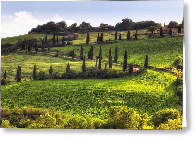 Montepulciano Greeting Cards - Tuscany - Val dorcia Greeting Card by Joana Kruse
