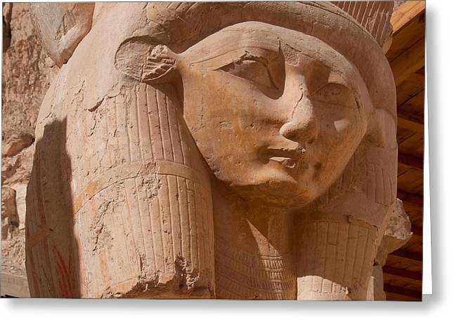 Hathor Greeting Cards - Valley of the Kings Greeting Card by Carol Ailles