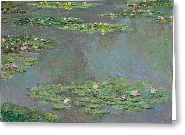 Monet Reproduction Greeting Cards - Water Lilies Greeting Card by Claude Monet