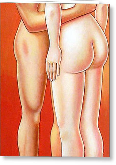 Michelangelo Greeting Cards - 2000. Couple with sphere Greeting Card by Michelangelo Janigro