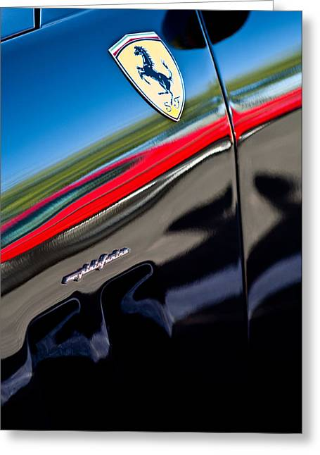 550 Greeting Cards - 2000 Ferrari 550 Marennel Emblem Greeting Card by Jill Reger
