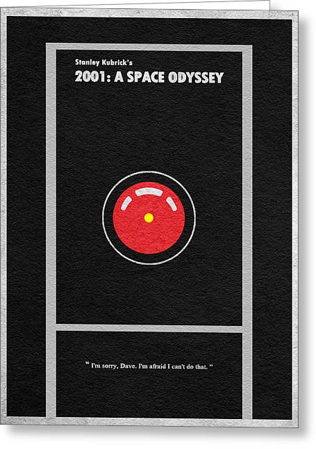 Kubrick Greeting Cards - 2001 A Space Odyssey Greeting Card by Ayse Deniz