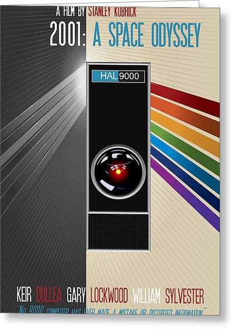 Sylvester Greeting Cards - 2001 A Space Odyssey Movie Poster Greeting Card by Florian Rodarte