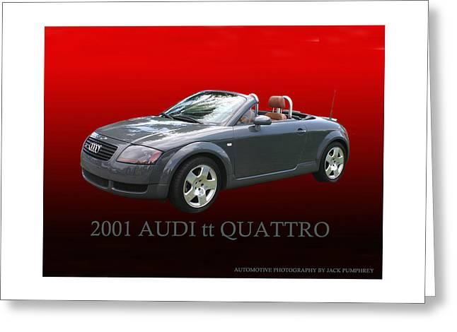 Enhanced Greeting Cards - 2001 Audi t t Quattro D H C Greeting Card by Jack Pumphrey