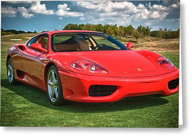 360 Greeting Cards - 2001 Ferrari 360 Modena Greeting Card by Sebastian Musial