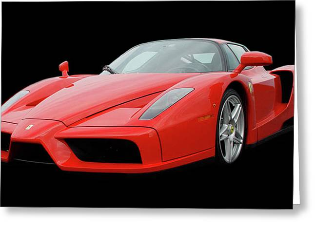 Cats Show Greeting Cards - 2002 ENZO Ferrari 400 Greeting Card by Jack Pumphrey