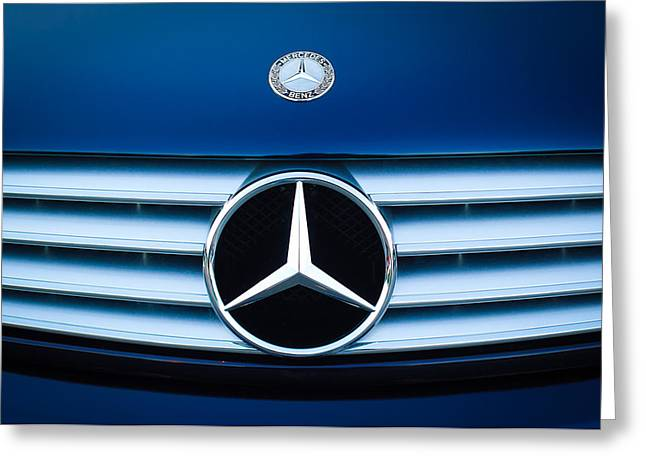 2003 Cl Mercedes Hood Ornament And Emblem Greeting Card by Jill Reger