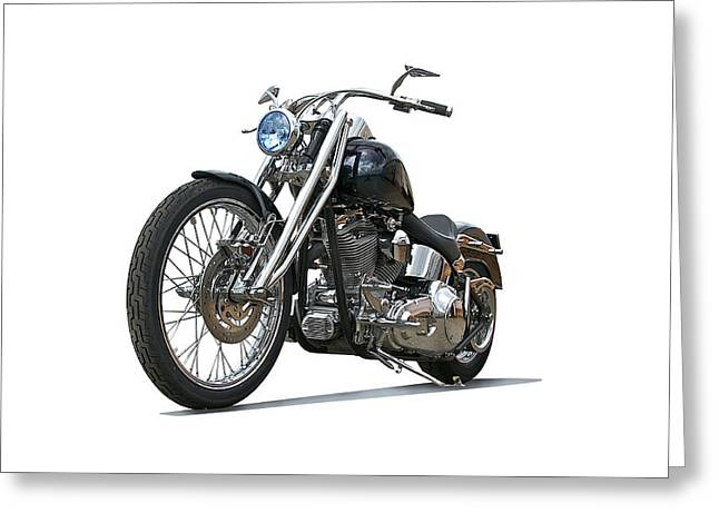 Classic Saddle Greeting Cards - 2003 H.D. Softail Custom 6 Greeting Card by Dave Koontz