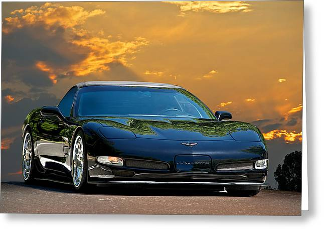 High-performance Luxury Car Greeting Cards - 2004 Corvette Roadster I Greeting Card by Dave Koontz