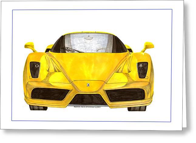 Car Part Paintings Greeting Cards - 2004 Enzo Ferrari 400 of 400 Greeting Card by Jack Pumphrey