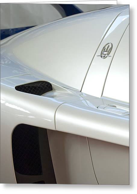 2005 Greeting Cards - 2005 Maserati MC12 Emblem Greeting Card by Jill Reger