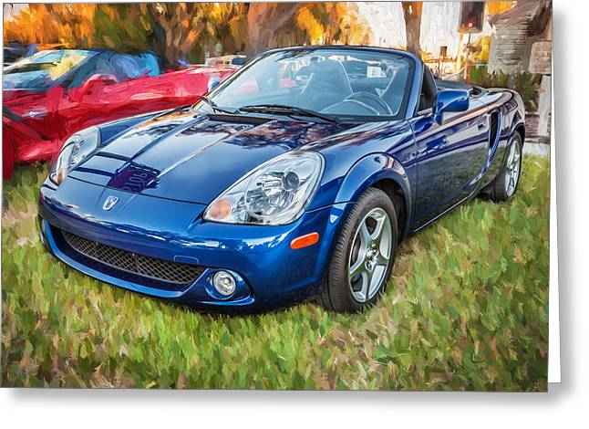Modified Greeting Cards - 2005 Toyota MR2 Sports Car Painted BW  Greeting Card by Rich Franco