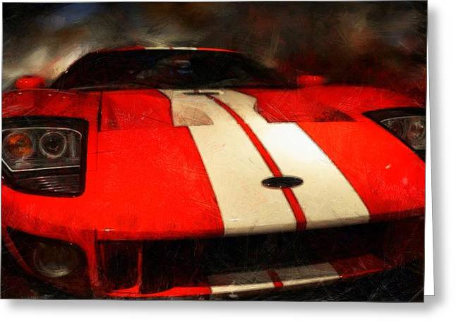 2006 Ford Gt Coupe Greeting Card by Michelle Calkins