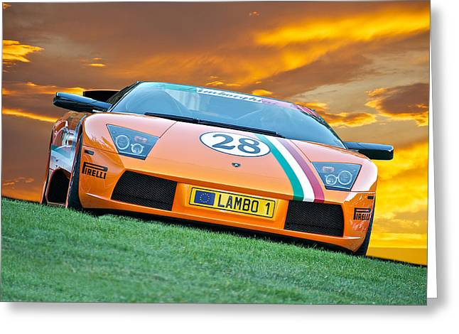 Rally Greeting Cards - 2006 Lamborghini Mucielago Roadster Greeting Card by Dave Koontz