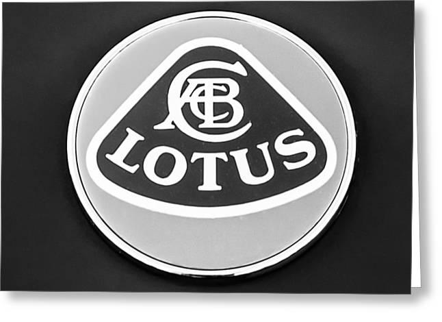 2006 Greeting Cards - 2006 Lotus Emblem -0014bw Greeting Card by Jill Reger