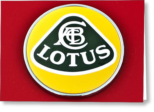 2006 Greeting Cards - 2006 Lotus Emblem -0014c Greeting Card by Jill Reger