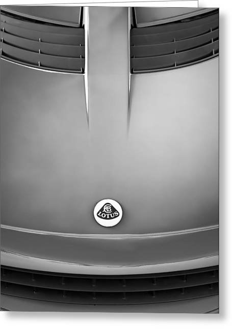 2006 Greeting Cards - 2006 Lotus Grille Emblem -000bw Greeting Card by Jill Reger