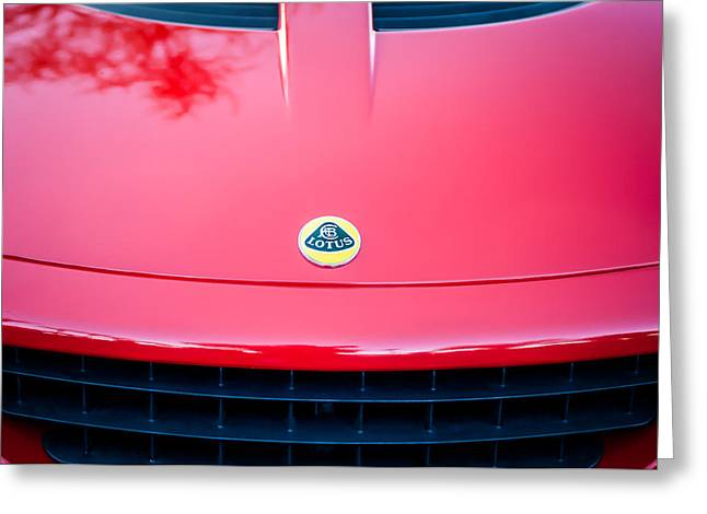 2006 Lotus Grille Emblem -0012c Greeting Card by Jill Reger