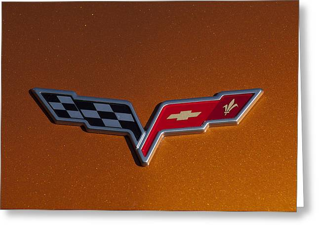 Famous Photographers Greeting Cards - 2007 Chevrolet Corvette Indy Pace Car Emblem Greeting Card by Jill Reger