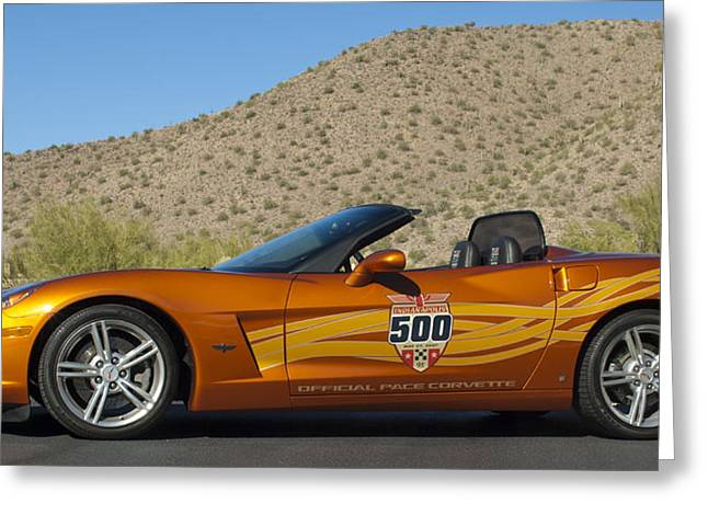 Famous Photographers Greeting Cards - 2007 Chevrolet Corvette Indy Pace Car Greeting Card by Jill Reger