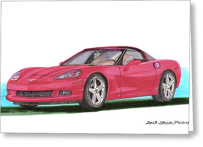 2007 Corvette C 6 Greeting Card by Jack Pumphrey