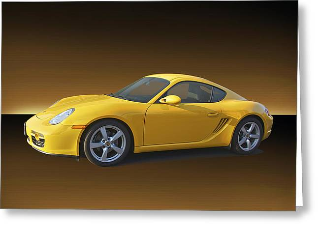 Rally Greeting Cards - 2007 Porsche Cayman Greeting Card by Dave Koontz