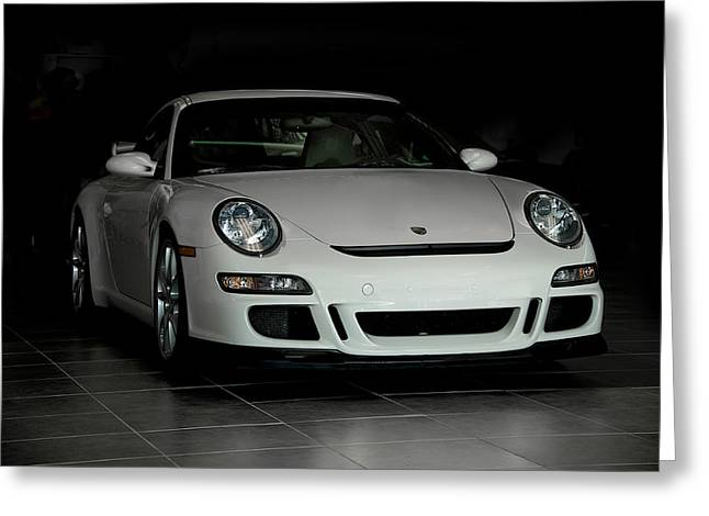 Rally Greeting Cards - 2007 Porsche GT3 Greeting Card by Dave Koontz