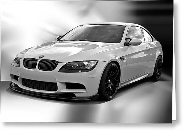 High-performance Luxury Car Greeting Cards - 2008 BMW M3 Coupe II Greeting Card by Dave Koontz