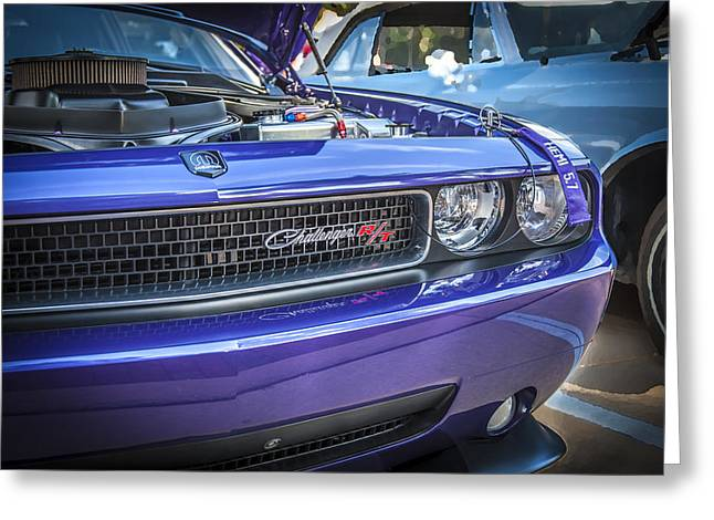 Purple V8 Greeting Cards - 2008 Dodge Challenger RT Greeting Card by Rich Franco