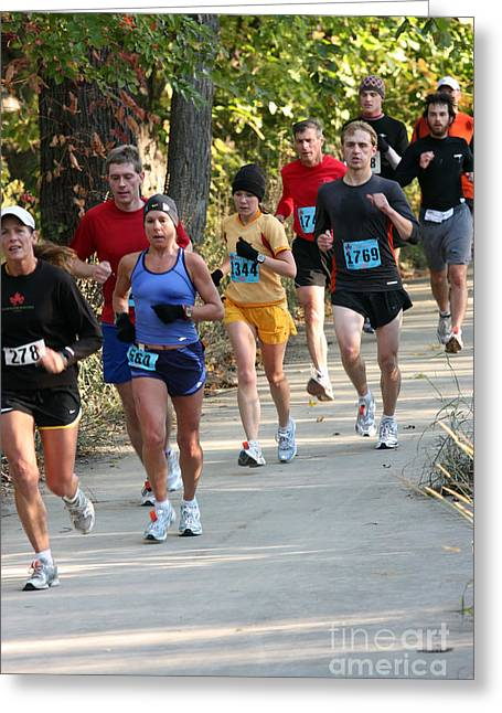 Physically Greeting Cards - 2008 Grand Rapids Marathon 4 Greeting Card by Christopher Purcell