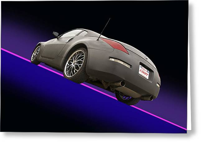 Drifter Photographs Greeting Cards - 2008 Nissan Z350 Drifter Greeting Card by Dave Koontz