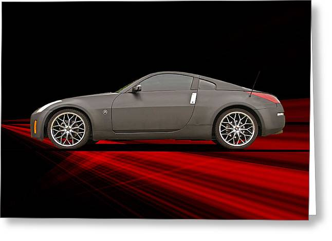 Drifter Photographs Greeting Cards - 2008 Nissan Z350 Drifter II Greeting Card by Dave Koontz
