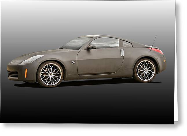 Drifter Photographs Greeting Cards - 2008 Nissan Z350 Drifter III Greeting Card by Dave Koontz