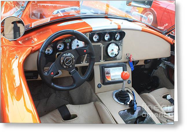 Steering Greeting Cards - 2009 Cobra Interior and Dashboard Greeting Card by John Telfer