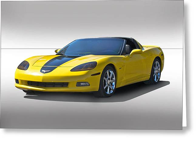 High-performance Luxury Car Greeting Cards - 2009 Corvette Studio Greeting Card by Dave Koontz