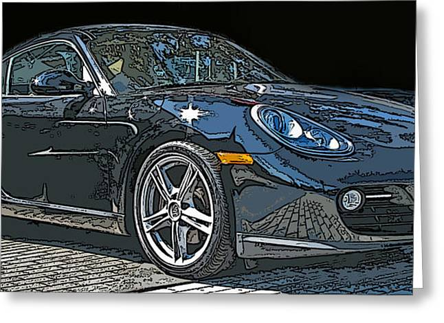 Samuel Sheats Greeting Cards - 2009 Porsche Cayman Greeting Card by Samuel Sheats
