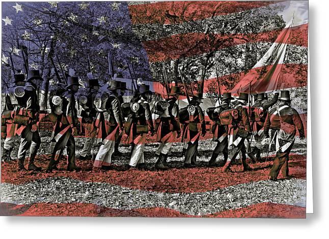 200th Anniversary, Battle Greeting Card by Rona Schwarz