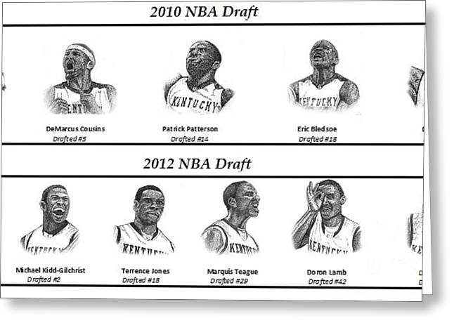 Nba Draft Greeting Cards - 2010 2012 NBA Draft Greeting Card by Tanya Crum